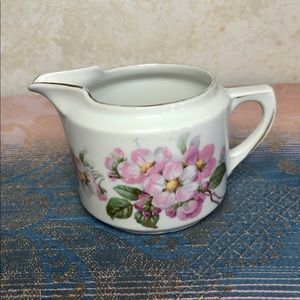 Germany 65 mark porcelain creamer gold/blossoms
